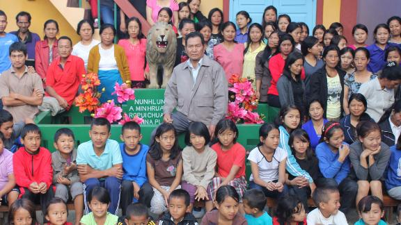 A Mizoram man Ziona Chana, believed to be the head of the world's largest family, passed away at the age of 76 on Sunday at Aizawl.