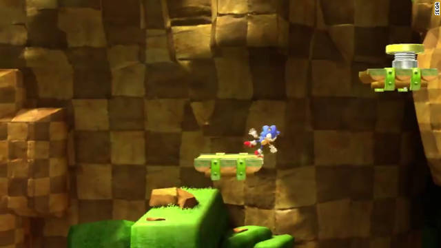 "In ""Sonic Generations,"" the familiar blue mascot sprints through levels in both 2-D and 3-D modes."