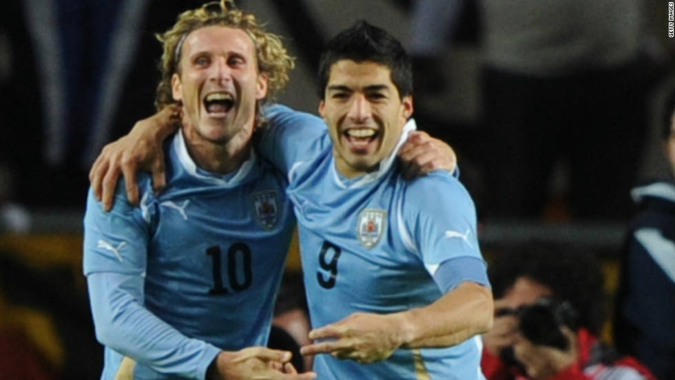 Uruguay claimed a record 15th Copa America triumph in July, and La Celeste's strike duo of Inter Milan's Diego Forlan and Liverpool's Luis Suarez have been shortlisted for the award.