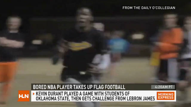 97933385dbb3 Bored NBA star takes up flag football - CNN Video