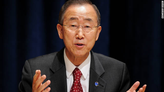Ban Ki-moon will meet with members of Libya's National Transitional Council and others, the statement said.