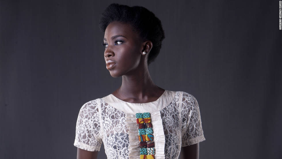 Obuobi says she was motivated by her seamstress grandmother, whom her label is named after, to devote herself to fashion.
