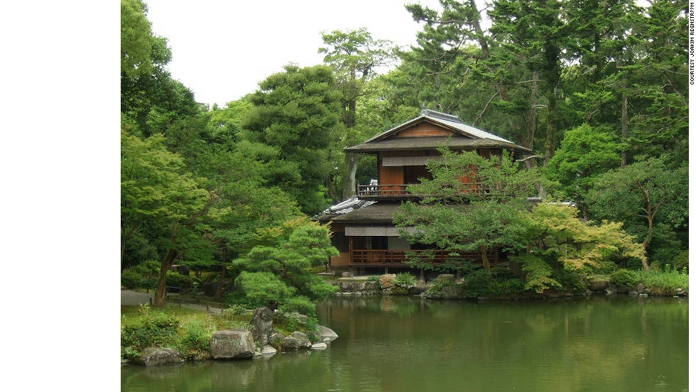 "The quaint and peaceful tea houses of Kyoto made a big impression on Adjaye when he visited Japan.  ""I think Japan made me realise how critical Africa was,"" he says. ""It's ironic, i had to go to Japan to really aesthetically become more sensitive to what my culture had."""