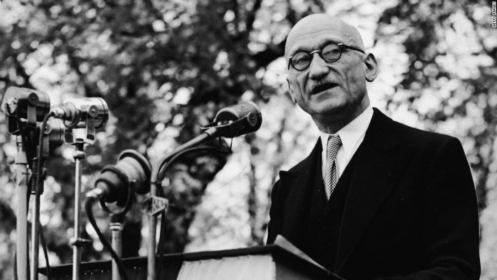 French politician Robert Schuman is regarded as one of the founding fathers of the European Union -- he came up with the idea for its precursor, the European Coal and Steel Community.