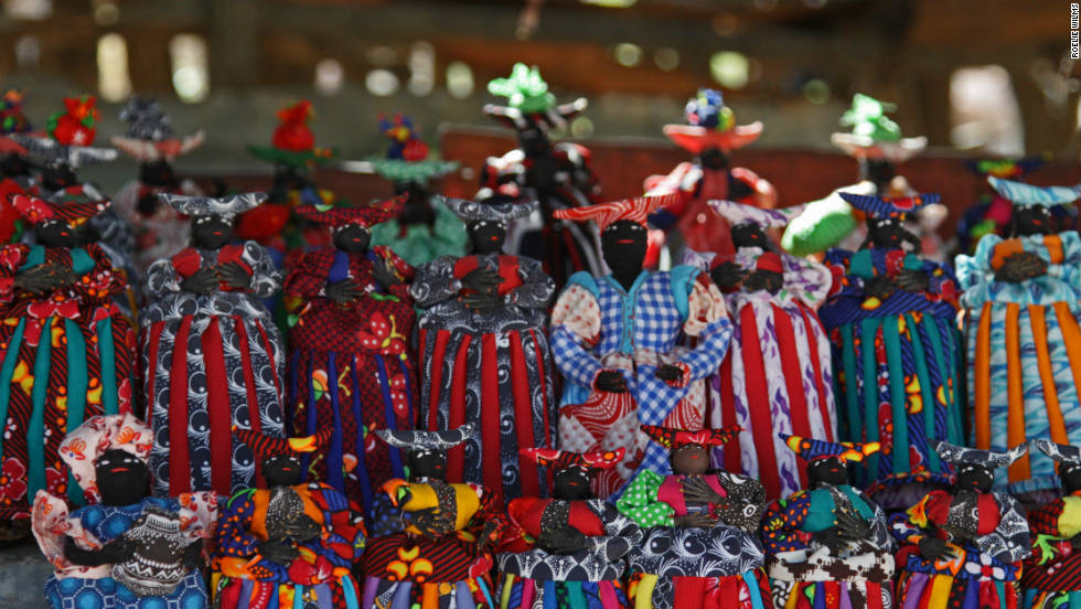 The women have also made dolls wearing exact replicas of the dresses to sell to tourists.