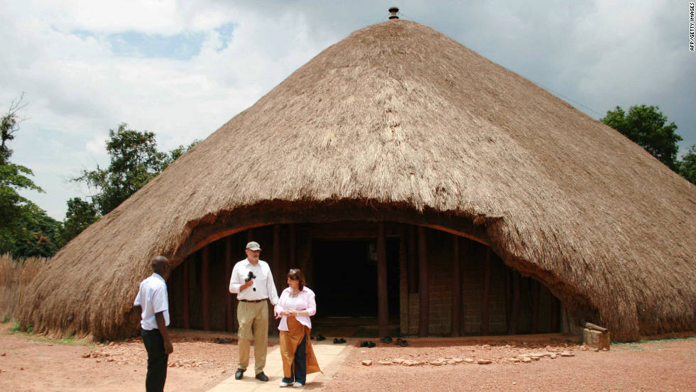 "The Buganda Shrine in Uganda was once the biggest thatch structure of the Buganda civilization. It was burnt down in 2010 but Adjaye says ""its sheer power and meaning,"" had a profound effect on him."