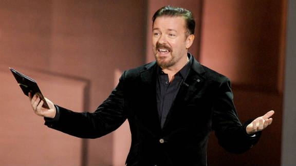 Ricky Gervais will host the Golden Globes for the third time come Sunday.