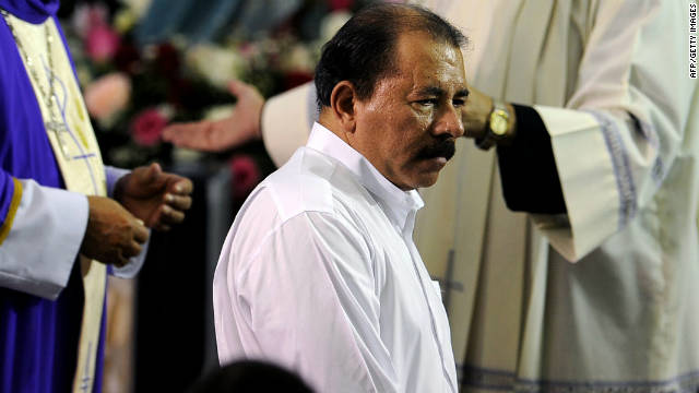 President Daniel Ortega is running in his sixth straight presidential race after being re-elected in 2006.