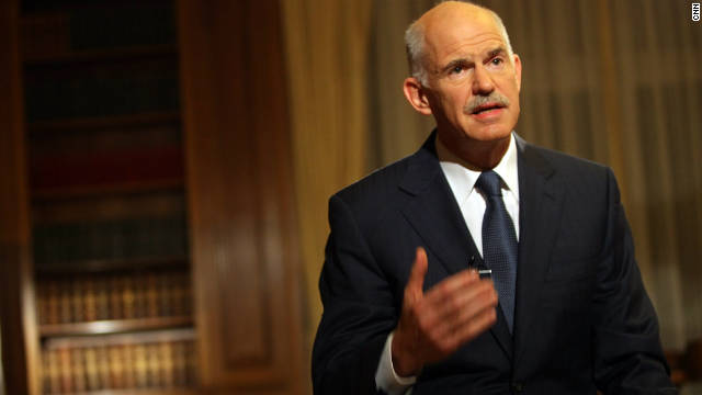 Greek PM George Papandreou (pictured) met with President Karolos Papoulias to seek permission to form a coalition.