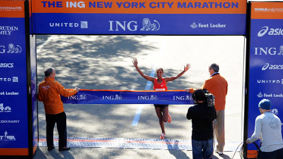 Firehiwot Dado of Ethiopia won the women's division in her first running of New York's marathon, with a time of 2:23:15.