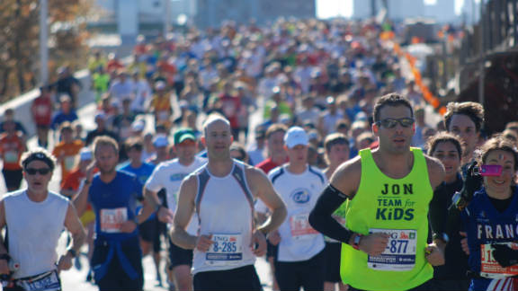 iReporter Rachel Cauvin says that every New Yorker should watch the ING New York City Marathon at least once in their lives.
