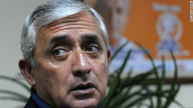 Otto Perez Molina, of Guatemala's Patriotic party, was the front-runner heading into the election.