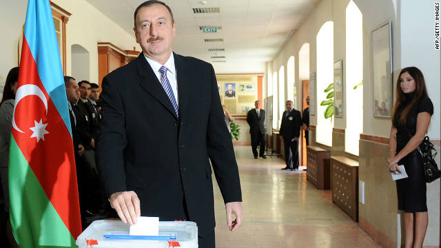 President Ilham Aliyev has been in power since 2003, although international observers have questioned the fairness of Azerbaijan's electoral process.