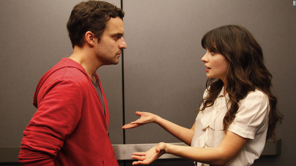 "<strong>""New Girl""</strong> : Jake Johnson and Zooey Deschanel play a pair of lovers on the Fox comedy.<strong> (Hulu)</strong>"
