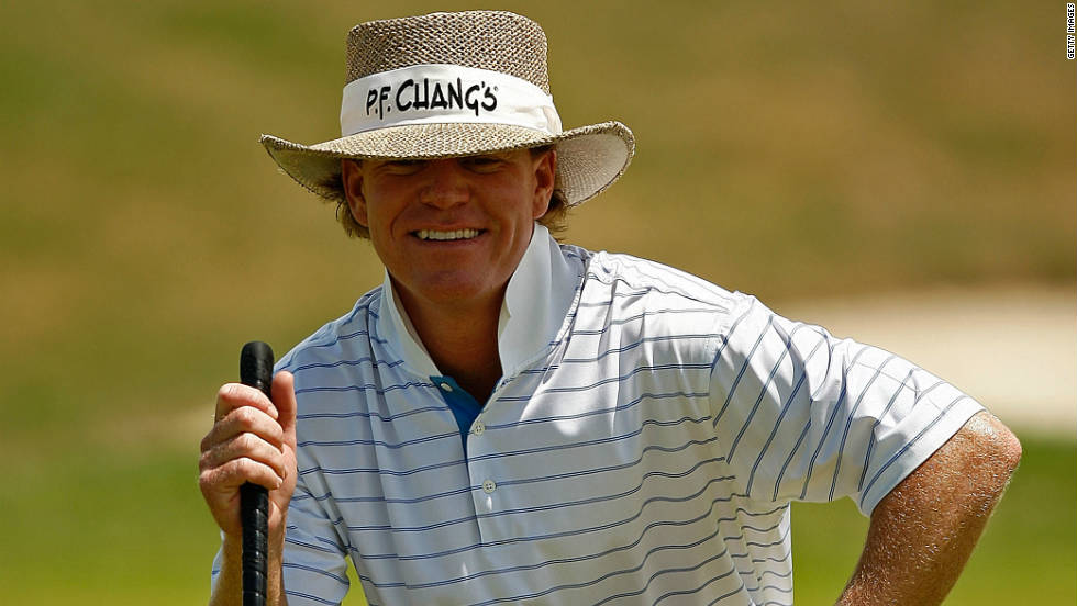 Baird is all smiles as he lines up a putt during the Puerto Rico Open in March 2008.