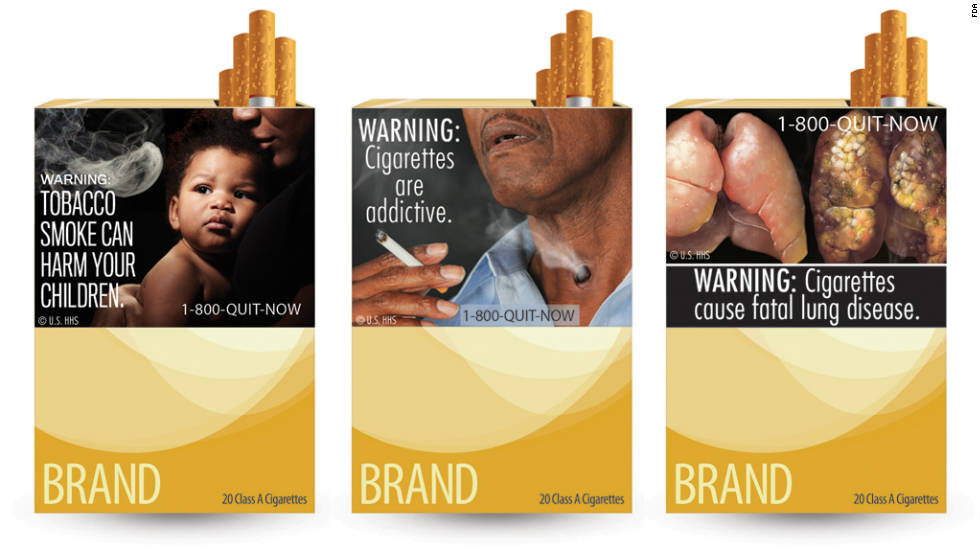 Last year the United States unveiled nine graphic health warning labels that must cover half the area of cigarette packages by this September.