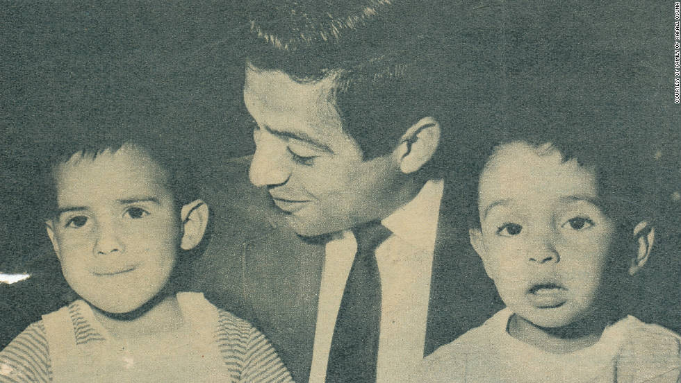 Rafael Osuna with his nephews Guillermo and Rafael.