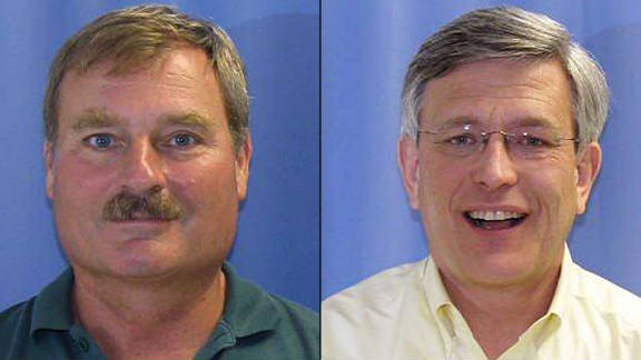 Gary Schultz, left, and Timothy Curley.