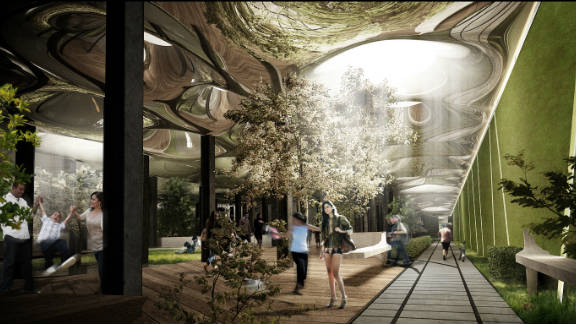 """An artist's impression of """"Delancey Underground,"""" a project that aims to turn an abandoned New York underground carriage terminal into a fully functioning subterranean community park. Still very much in the proposal stages, we ask you to tell us if the plans are science fiction or high-tech future."""