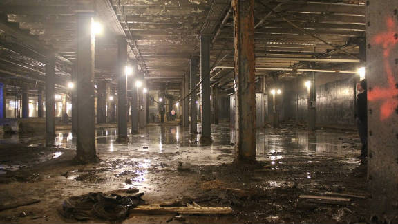 A recent photograph shows the current state of the Delancey Street subway terminal after 60 years of neglect