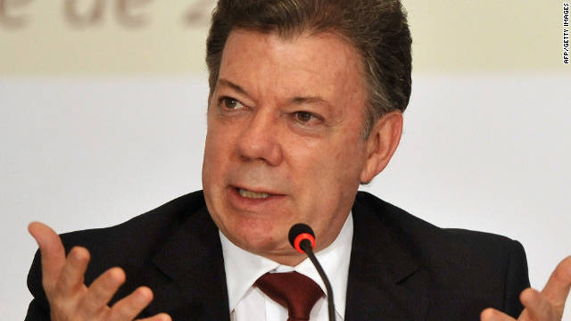 President Juan Manuel Santos made a plea for the end of hostilities. (File)