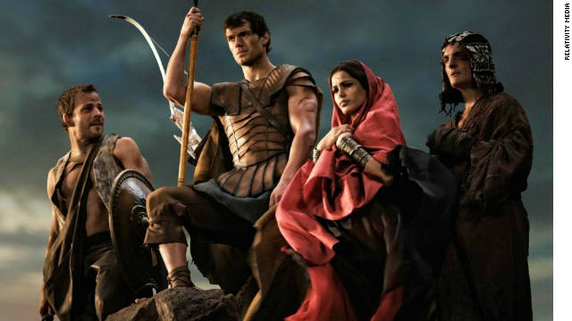 "Actor Henry Cavill joins other stars in the new film ""Immortals."""