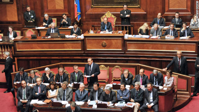 The Italian Senate is expected to vote on an austerity package as it seeks to ward off fears of a debt-driven crisis.