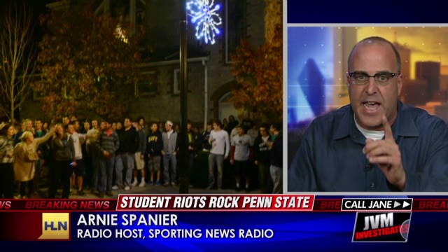 Spanier: Rioting students are 'stupid'