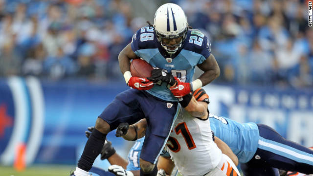 Chris Johnson of the Tennessee Titans has put up less than stellar numbers since signing a $50 million contract.
