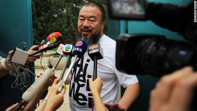 Ai Weiwei says he received a note on Thursday that said he must pay the equivalent of $2.4 million in back taxes.