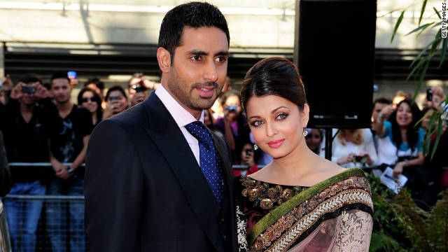Abhishek Bachchan and Aishwarya Rai at the BFI Southbank on June 16, 2010 in London, England.