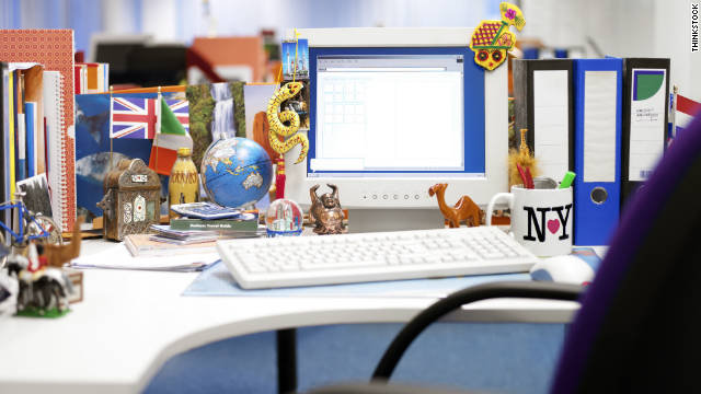 Is your desk covered with the things you like to collect?