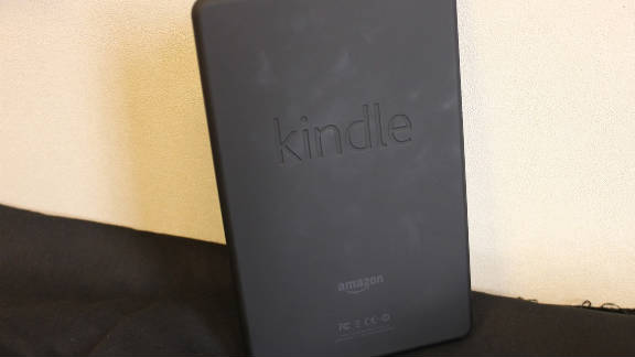 The Kindle Fire has a rubbery backside that's not slippery.