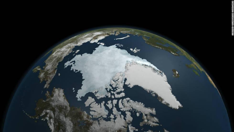 "The last five years have included the<a href=""http://news.blogs.cnn.com/2011/09/12/arctic-ice-levels-hit-historic-low-researchers-say/""> five lowest extents of sea ice </a>in the Arctic since records began in 1979, according to NASA, with much of that trend being caused by global warming."