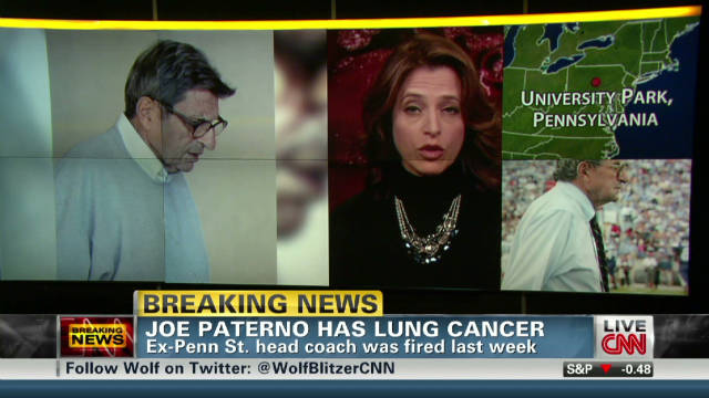 Paterno's lung cancer 'treatable'