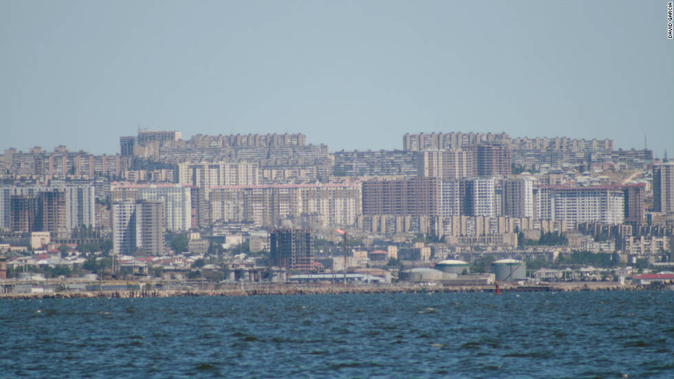 A view beyond Baku's picturesque Walled City and ultra modern skyscrapers. David Garcia took this photo of the city's old style Soviet era appartment blocks.