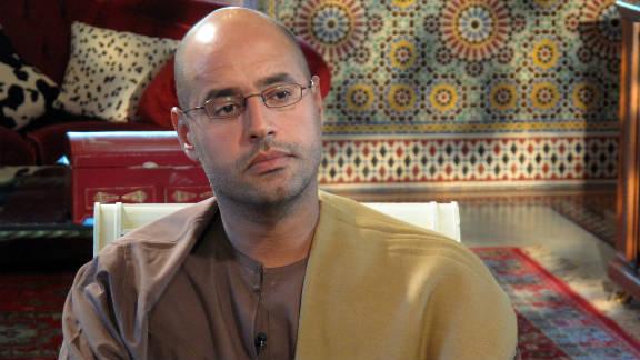 Saif Gadhafi speaks with CNN's Nic Robertson in September, 2009.