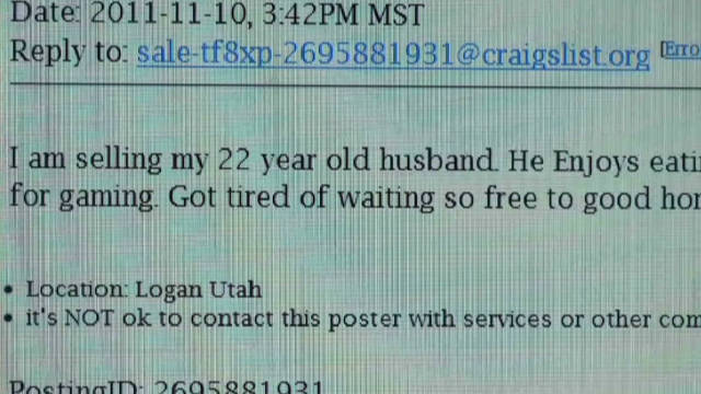 Wife jokingly sells spouse on ...