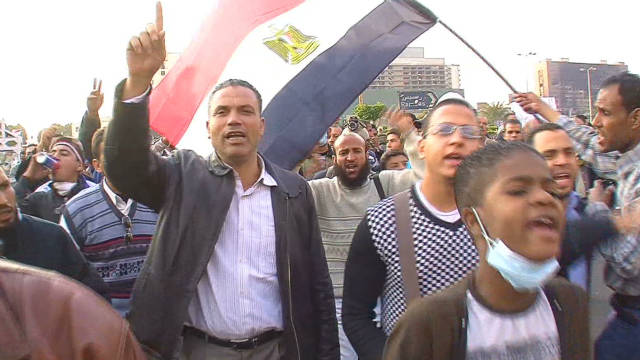 Egyptian protesters press their case