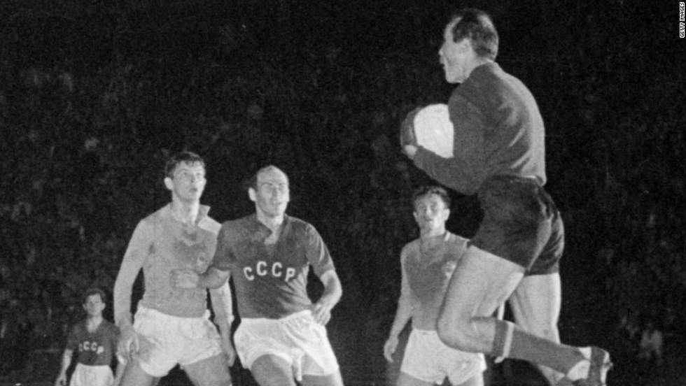 Just 17 teams entered the first tournament in 1960 and it was played on a home-and-away basis until the semifinal stage, which France hosted. The Soviet Union and Yugoslavia contested the final in Paris, with Viktor Ponedelnik carving his name in history by scoring the winning goal in extra time to give the Russians victory.