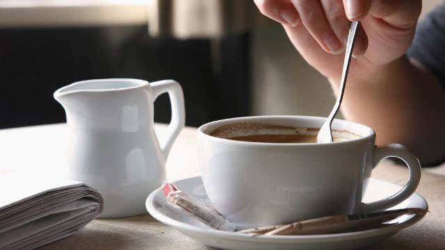 Ingestible collagen can be added to warm liquids, including coffee or tea.