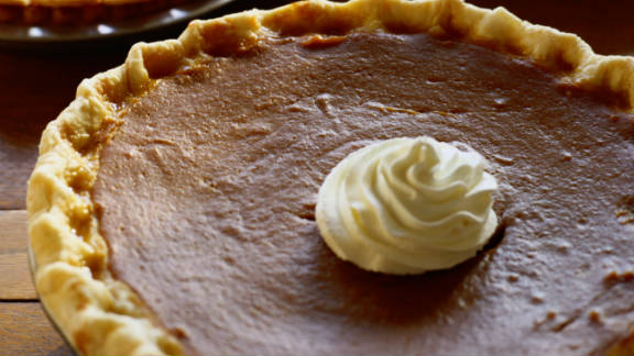 Pumpkin is a good source of fiber and vitamin A and promotes healthy vision, mucus membranes and skin. That said, say your thanks and cut yourself a slice of pumpkin pie. It is the holidays after all!
