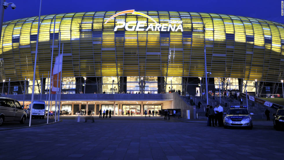 Work began on the 43,000-seater Arena Gdansk in 2008, with the stadium now the home of Polish team Lechia Gdansk having opened in August 2011. The stadium will host a quarterfinal and three Group C matches.