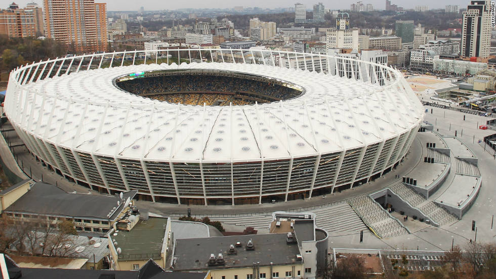 All 16 competing nations at Euro 2012 will head to Poland and Ukraine next year dreaming of reaching the final at Kiev's Olympic Stadium on July 1. The venue in the Ukrainian capital has been renovated ahead of the championship, having originally been constructed in the 1920's. In addtion to the final, the Olympic Stadium will also host a quarterfinal and some Group D matches.