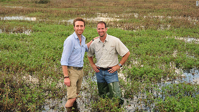 Join Philippe Cousteau (left) as he tours the Florida Everglades as part of CNN's Going Green coverage