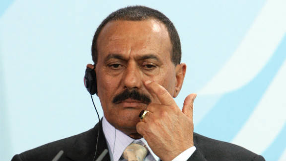 "President  Ali Abdullah Saleh said the transfer of power should be ""peaceful and democratic."""