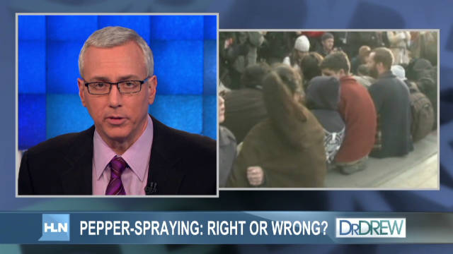 Pepper-spraying: Right or wrong?