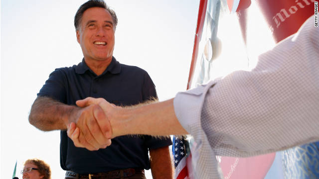 Republican presidential candidate Mitt Romney, who is facing resistance among some social conservatives, campaigns at the Iowa State Fair in Des Moines this summer.