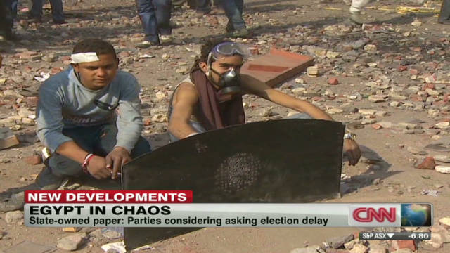 Parties considering Egypt election delay