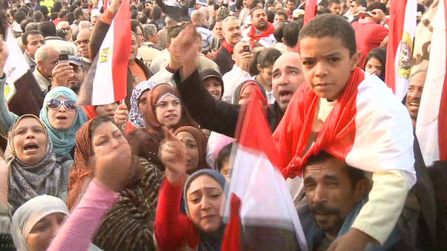 Anti-Tahrir Square protest in Egypt